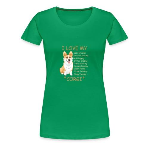 I Love My Corgi - Women's Premium T-Shirt