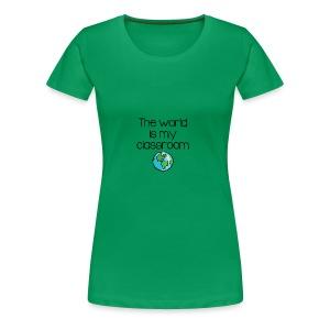World Classroom - Women's Premium T-Shirt