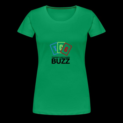 TCG Buzz Logo - Black - Women's Premium T-Shirt