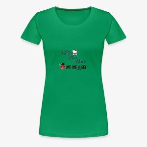 Hello New Book, Bye Bye Sleep - Women's Premium T-Shirt