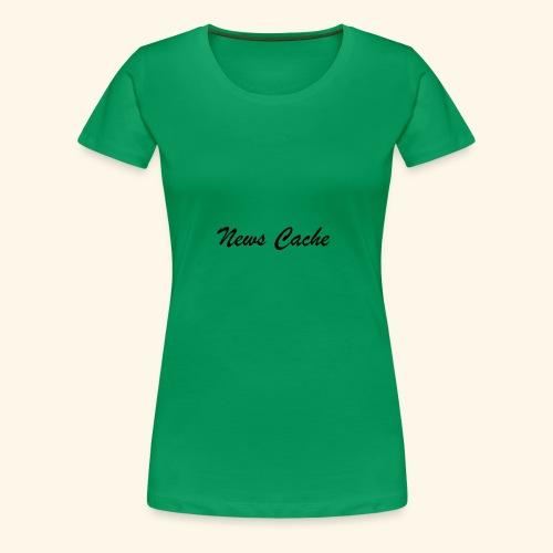 News Cache Black - Women's Premium T-Shirt