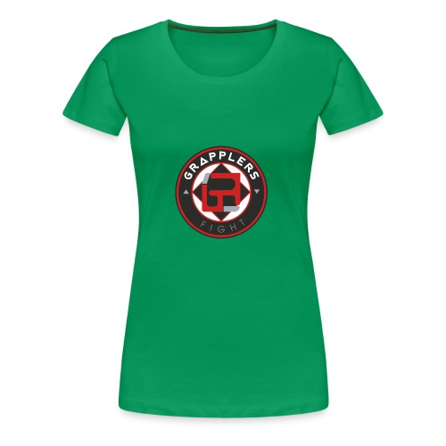 Dark 001 grapplersfight LOGO Back - Women's Premium T-Shirt