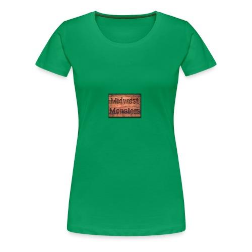 Midwest Monsters Wood Logo - Women's Premium T-Shirt