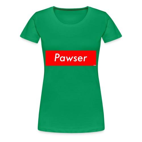 Pawser Logo SUPREME Style - Women's Premium T-Shirt