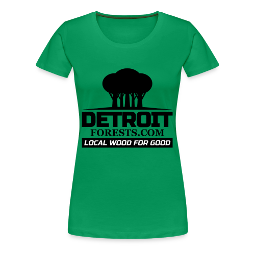 Great Lakes Forest | Detroit Forests Black Logo - Women's Premium T-Shirt