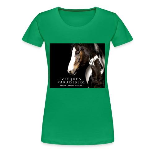 vieques island paradise horse poster - Women's Premium T-Shirt