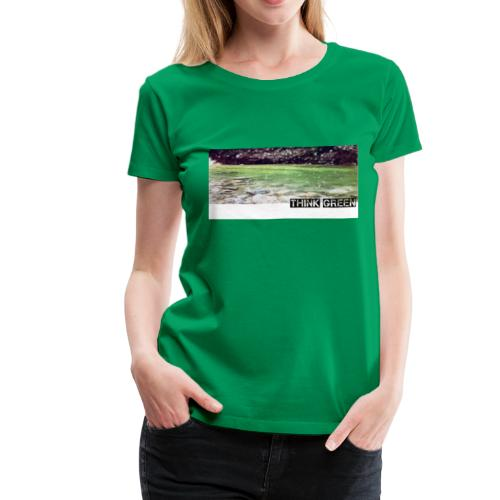 Think green - Women's Premium T-Shirt