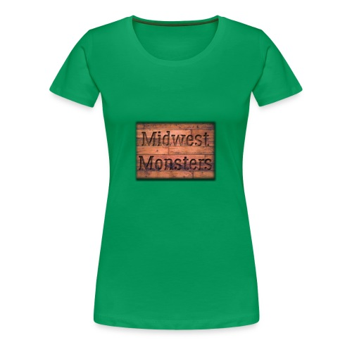 Midwest Monsters Wood Logo - Women's Premium T-Shirt
