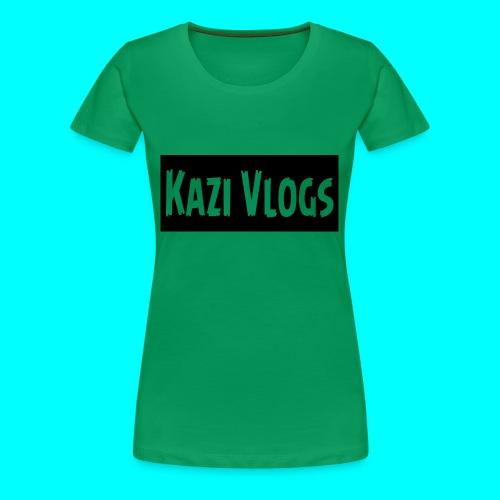Kazi Vlogs - Women's Premium T-Shirt