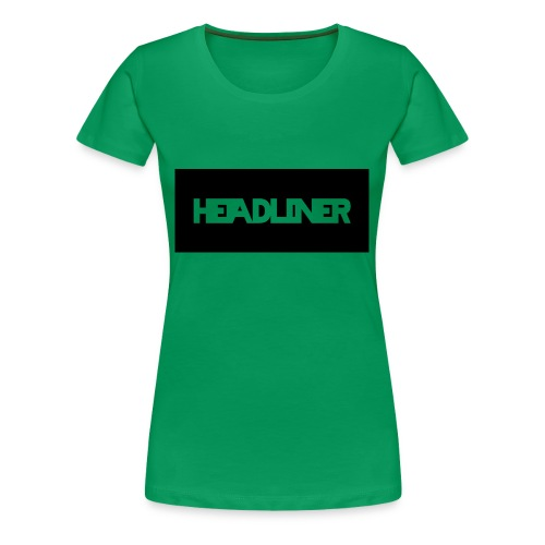 HEADLINER LOGO TRANSPARENT ON BLACK - Women's Premium T-Shirt