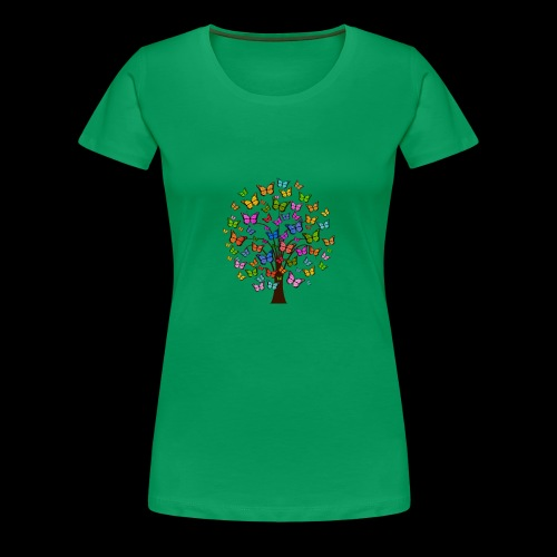 Cute colorful butterfly tree - Women's Premium T-Shirt