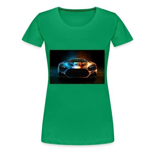 Download Cool Wallpaper Cars Background free stock - Women's Premium T-Shirt