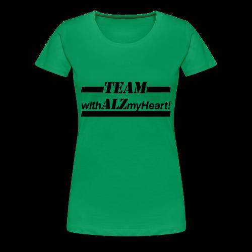 Team withALZmyHeart Logo Wear - Women's Premium T-Shirt