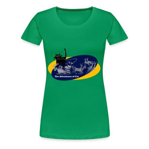 Cat Loves Christmas - Women's Premium T-Shirt