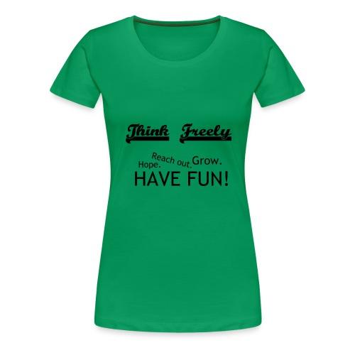 iHoodie - Think Freely - Women's Premium T-Shirt
