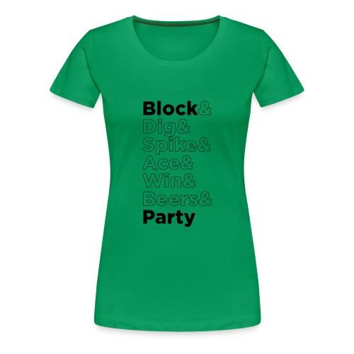 Block Party Outline - Women's Premium T-Shirt