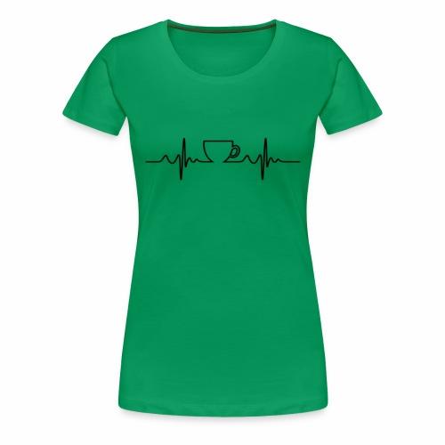 Coffee Beat - Women's Premium T-Shirt