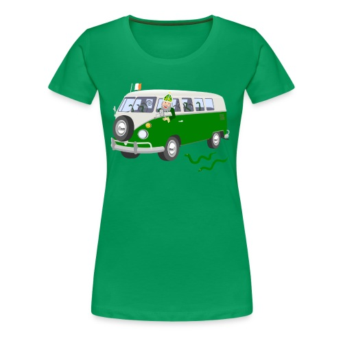St Patrick Driving The Snakes Out Of Ireland - Women's Premium T-Shirt