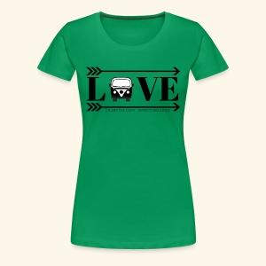 LOVE wagon camper logo - Women's Premium T-Shirt