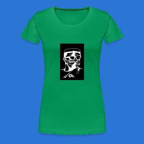 OMVRI Black n Whitee - Women's Premium T-Shirt