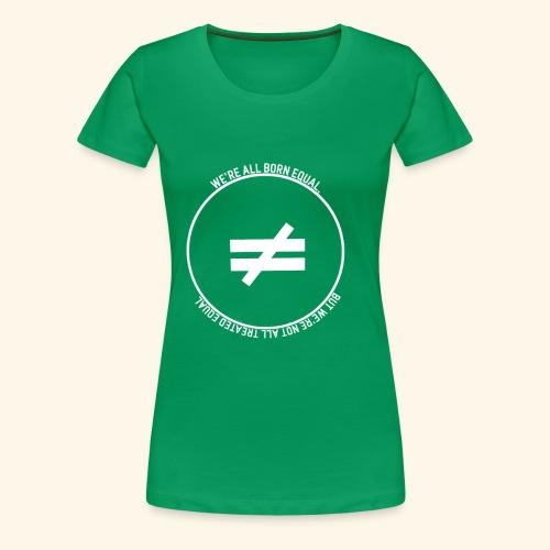 Stay True-White Logo - Women's Premium T-Shirt