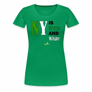 NY Green and White - Women's Premium T-Shirt