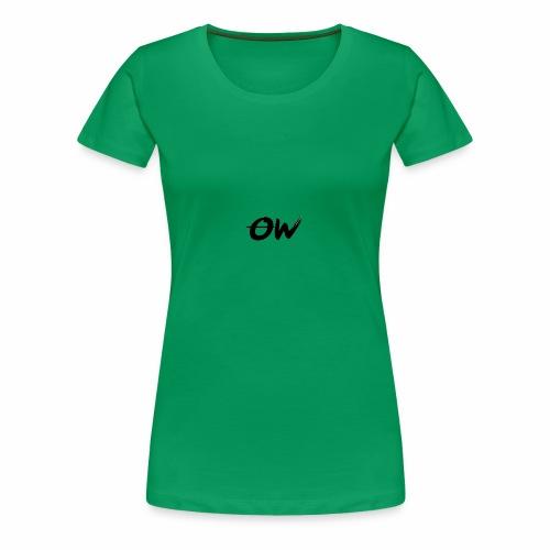 Simple Letter Logo Design - Women's Premium T-Shirt