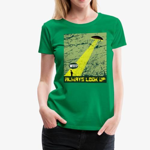 Ufo Abduction WTF T-Shirt - Women's Premium T-Shirt