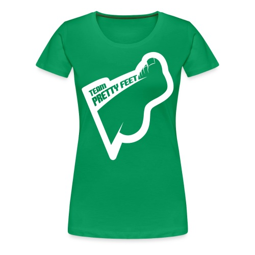 TEAM PRETTY FEET White Foot Logo - Women's Premium T-Shirt