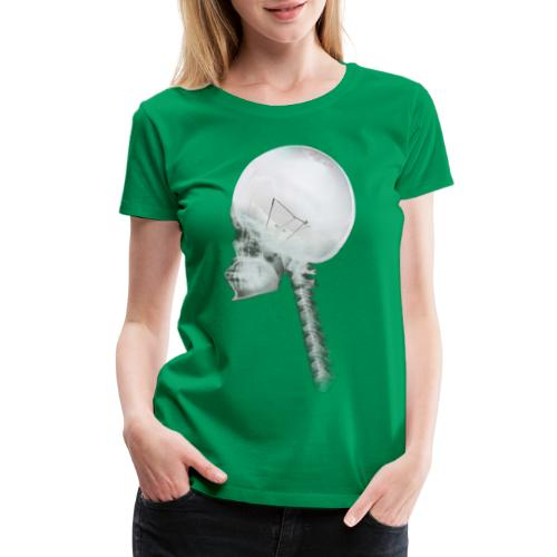 Light Bulb Skull - Women's Premium T-Shirt