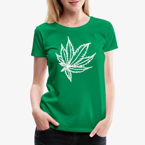 white leaf - Women's Premium T-Shirt