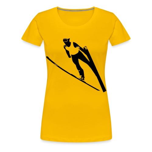 Ski Jumper - Women's Premium T-Shirt