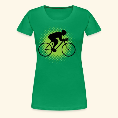 Biking Man Cyclist Gift - Women's Premium T-Shirt