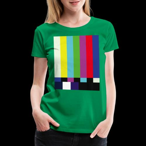 This is a TV Test | Retro Television Broadcast - Women's Premium T-Shirt