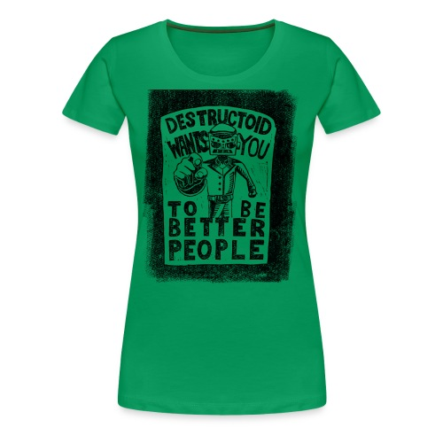Destructoid Wants You - Women's Premium T-Shirt