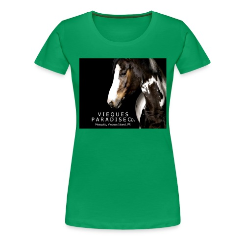 vieques island paradise horse poster - Women's Premium T-Shirt