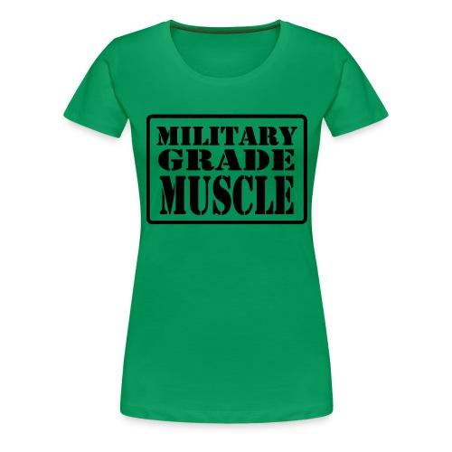 Military Grade Muscle Black - Women's Premium T-Shirt