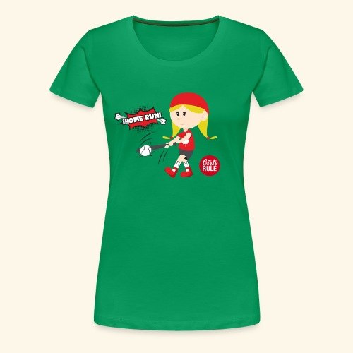 Canadian girl baseball player hitting home run Kid - Women's Premium T-Shirt
