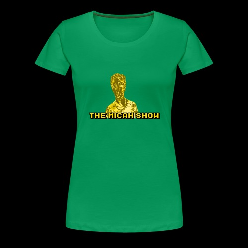 Limited Edition Gold Micah Show Logo - Women's Premium T-Shirt