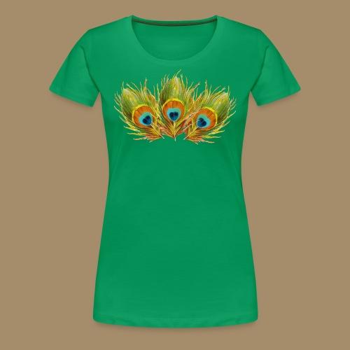 Peacock Feathers - Women's Premium T-Shirt