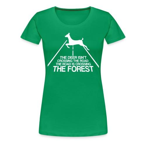 Deer's forest white - Women's Premium T-Shirt