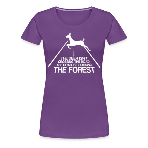 Deer's forest white - Women's Premium T-Shirt