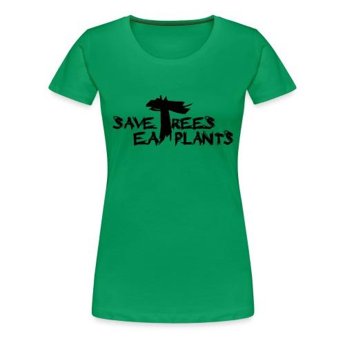Eat plants, black - Women's Premium T-Shirt