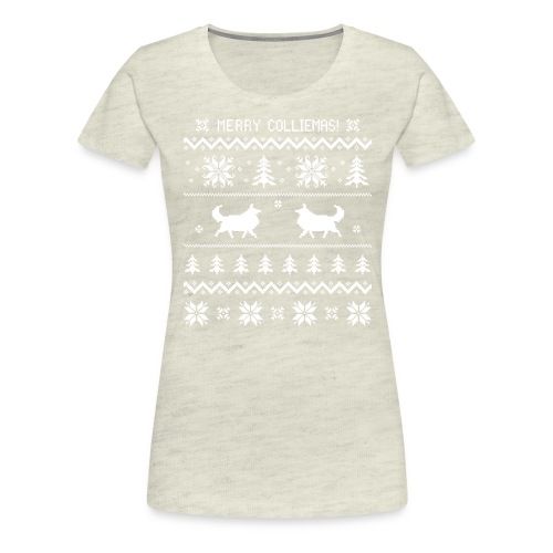 Merry Colliemas - Women's Premium T-Shirt