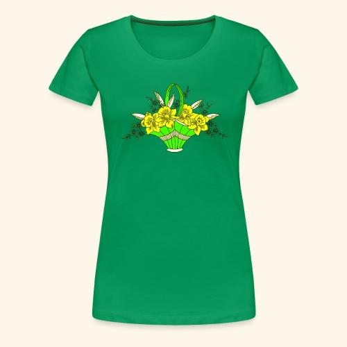 Daffodils Poster - Women's Premium T-Shirt