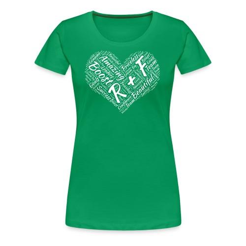 R+F White Heart - Women's Premium T-Shirt