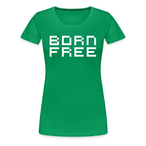 born free white png - Women's Premium T-Shirt