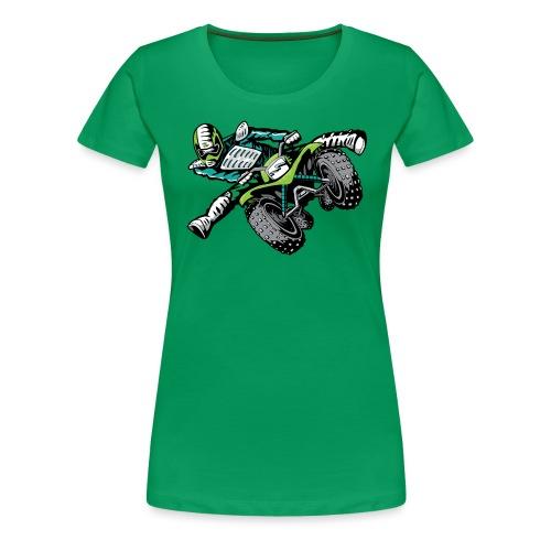 ATV Freestyle Quad Green - Women's Premium T-Shirt