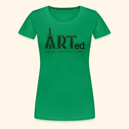 i arted (Irish theme) - Women's Premium T-Shirt