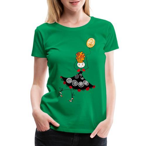 dancer girl with balloon - Women's Premium T-Shirt